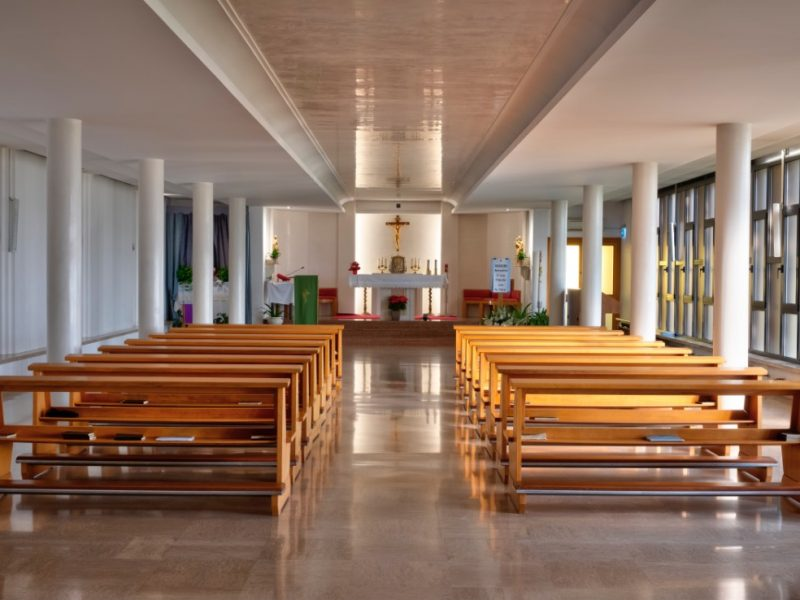 vista complessiva della cappella interna