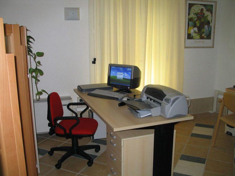 postazione di coordinamento attrezzata con PC